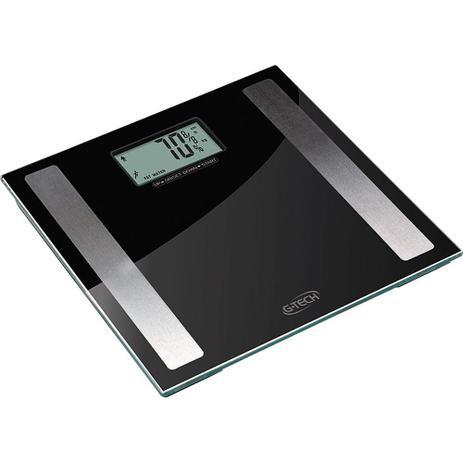 Imagem de Balança Digital de Vidro 150kg, Taxa de Gordura, Líquido, Massa Muscular e Óssea G-Tech Glass Pro