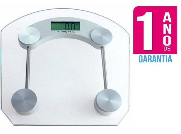 Imagem de Balança Digital de Vidro Quadrada com capacidade de 1 a 180kg