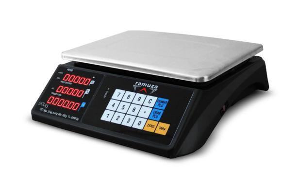 Imagem de Balança digital  ramuza  dcl 6/15/35kg x 2/5/10g computadora led touch