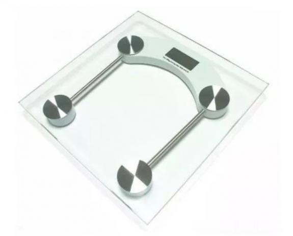 Imagem de Balança Digital Vidro Temperado Até 180 Kg Quadrada Banheiro