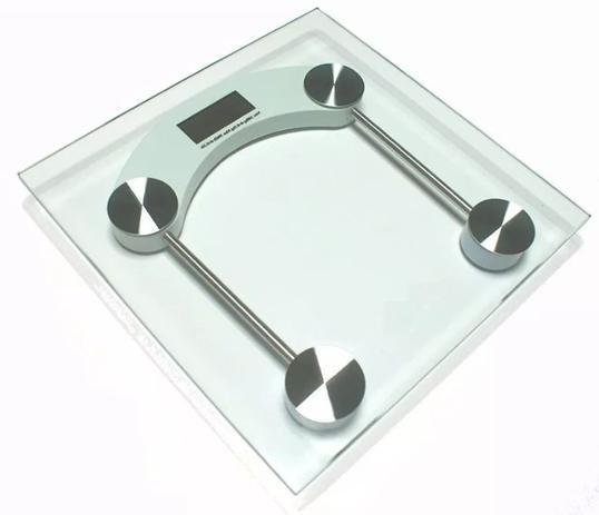 Imagem de Balança Quadrada Digital de Vidro Temperado até 180kg