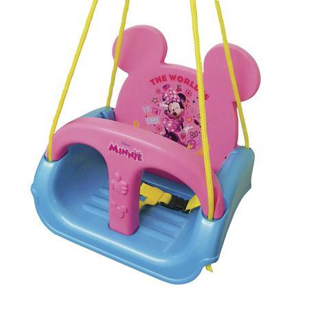 Imagem de Balanço Infantil Com Encosto Regulável Minnie Rosa Xalingo