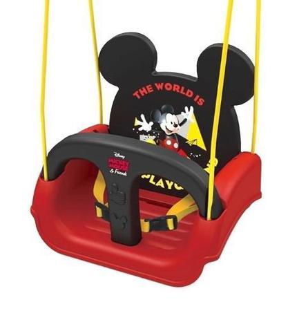 Imagem de Balanço Infantil Mickey Com Encosto E Cinto 19798 - Xalingo