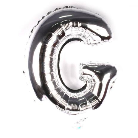 Balão Metalizado Letra G Prata 35cm - Aluá festas - Balão Metalizado ... 1326273c31