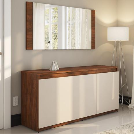 Imagem de Balcão Buffet com Moldura 3 Portas Lirio Seda/Off White - Viero Móveis