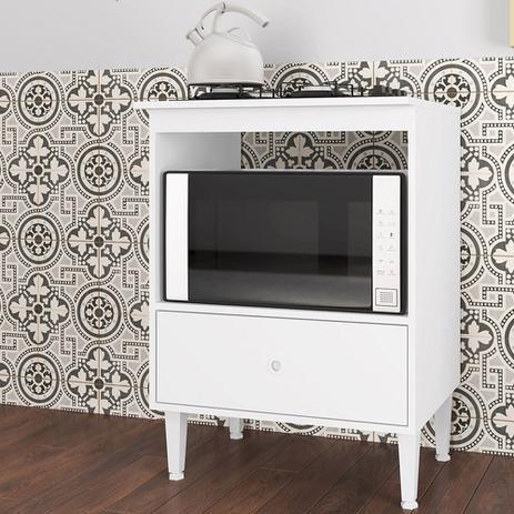 Imagem de Balcão Dubai Forno e Cook Top 4 Bocas 1 Gaveta Branco - Art In Móveis