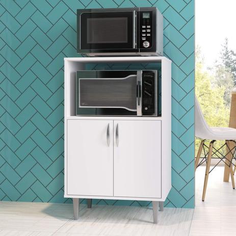 Imagem de Balcão Forno e Micro-Ondas 2 Portas Completa Móveis Branco