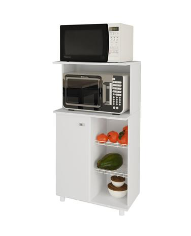 Imagem de Balcão Fruteira, 1 Porta, 2 Aramados para Fruta e Microondas, Bf3207, Tecno Mobili