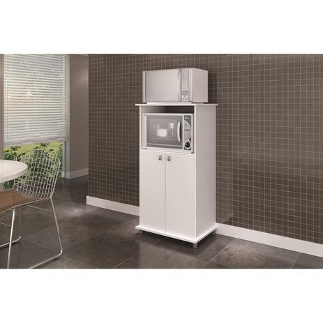 Imagem de Balcão multiuso para forno e micro Branco AM 1010 Movelbento