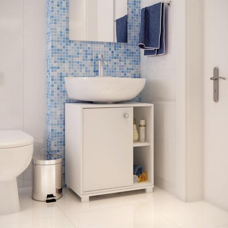 Balcão Para Banheiro 535cm Encaixe Pia Bbn 01 Brv Móveis