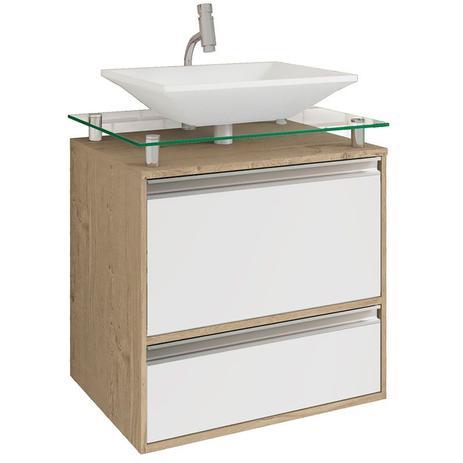 Balcão Para Banheiro Suspenso Com 1 Porta E Pia Faro Mgm