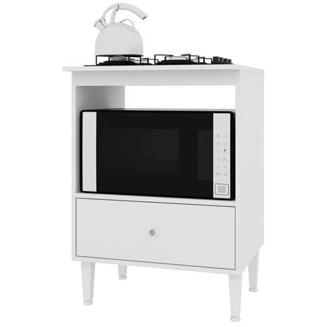 Imagem de Balcão para Cooktop 4 Bocas e Forno Microondas BL4060 Branco - Art In Móveis