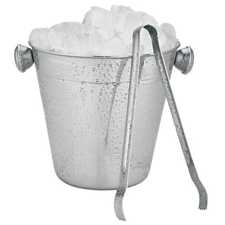 Imagem de Balde De Gelo Aço Inox Redondo Alça E Pegador 1,5 Litros Bar