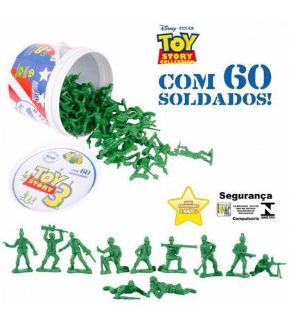 Imagem de Balde De Soldados Toy Story Disney 60 Bonecos