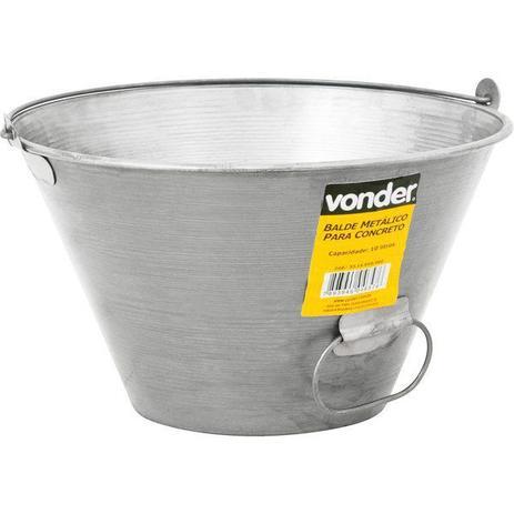 Imagem de Balde metálico para concreto, 10 litros, VONDER