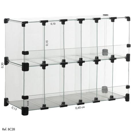 Imagem de Baleiro Expositor Modulado Vidro - 0,60 x 0,30 x 0,15