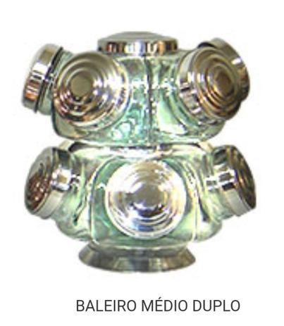 Imagem de Baleiro Giratório Médio Duplo na cor prata