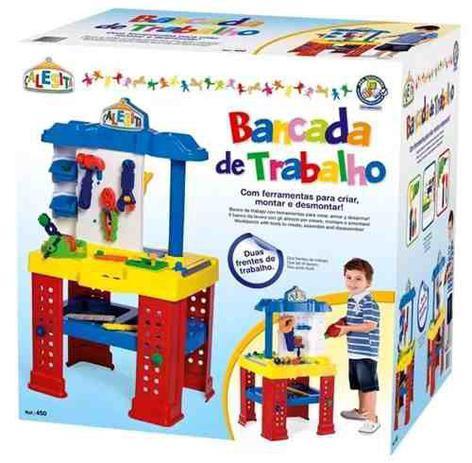 Bancada De Trabalho De Brinquedo Infantil Calesita Bancada De