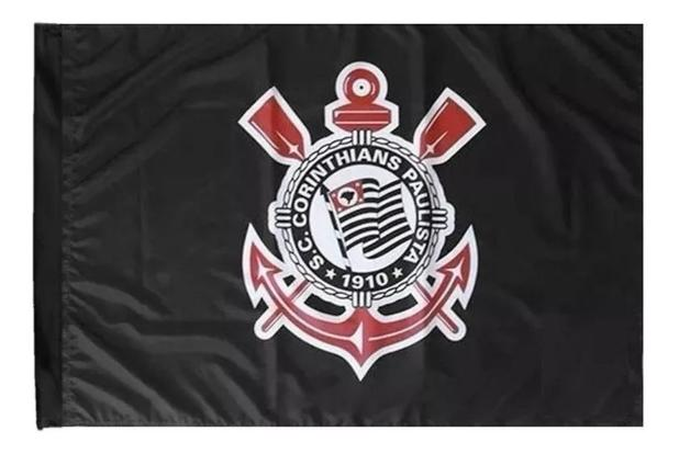 Imagem de Bandeira Do Corinthians Tamanho  90 X 130 Cm