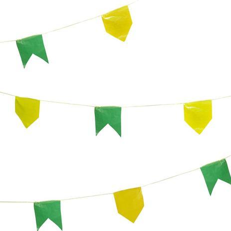 Bandeirinhas Verde e Amarelo 21cm x 15cm Brasil - Festabox - Artigos ... 07e33b17d1