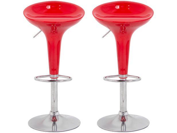 Banqueta Alta Giratória Vermelha BQT-VE1 – 2 Peças