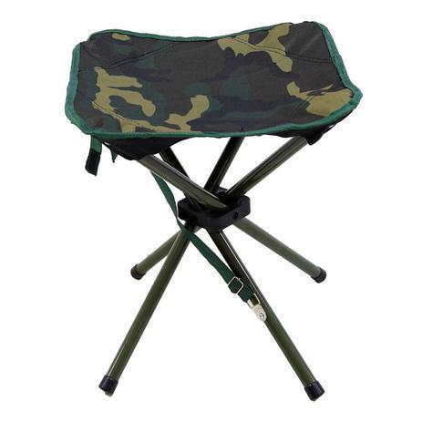 Imagem de Banqueta de camping dobrável Stool NTK de aço esmaltado e base reforçada que suporta até 80kg