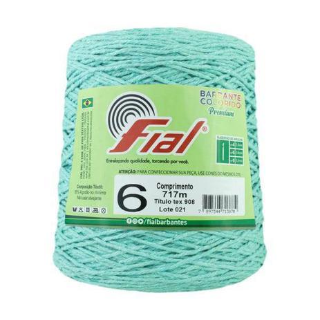 Imagem de Barbante Crochê Fial Colorido 700g - N. 6 - 43 - Verde Claro