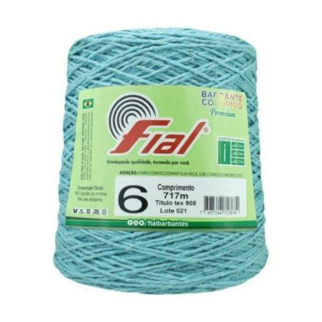 Imagem de Barbante Crochê Fial Colorido 700g - N. 6 - 53 - Azul Claro - Barbantes Fial