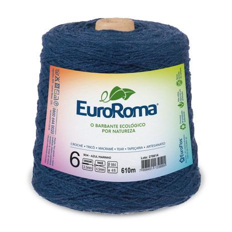 Imagem de Barbante EuroRoma número 06 - Cor 904 - Azul Marinho  - 600g