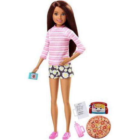 Imagem de Barbie Baby Sister Morena FHY92 - Mattel