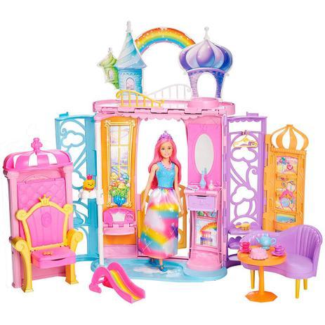 e8101177c1 Barbie Castelo de Arco Íris - Mattel - Boneca Barbie - Magazine Luiza