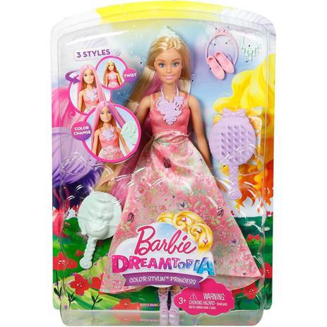 8a5098f637 Barbie Dreamtopia Cabelos Coloridos DWH42 - Mattel - Boneca Barbie ...