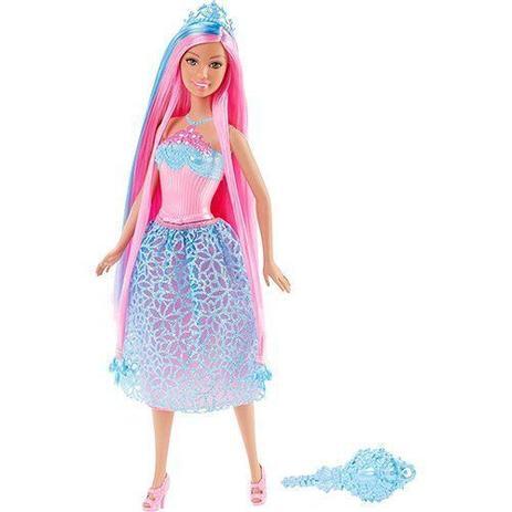 5d7c295da0 Barbie Princesa Cabelos Longos AZUL Mattel DKB56 DKB61 - Boneca ...