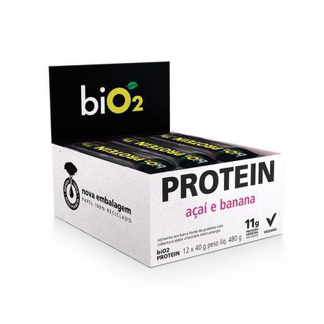 Imagem de Barra de Proteína Açaí e Banana display com 12 un. de 40g - Bio2