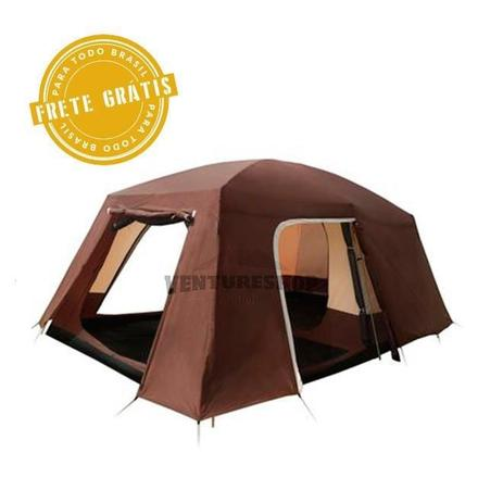 9bcfd4474 Barraca Camping 12 Pessoas Family Titan 6+6 - Guepardo - Barraca ...