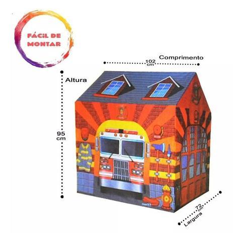 Imagem de Barraca infantil casinha estação dos bombeiros