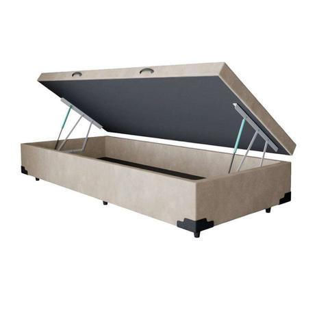 Imagem de Base Box Baú Solteiro AColchões Suede Bege 41x78x188