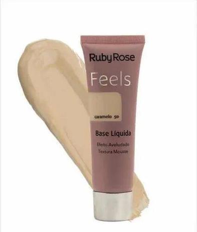 Imagem de Base liquida feels caramelo 50 textura mousse ruby rose