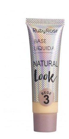 Imagem de Base liquida natural look  ruby rose  bege 2