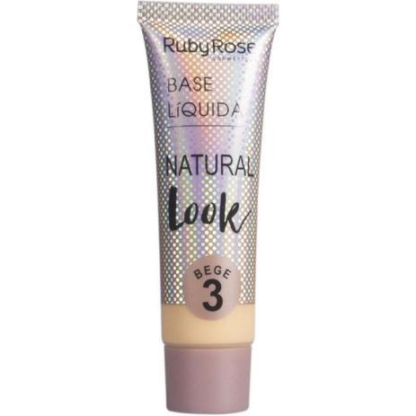 Imagem de Base Liquida Natural Look Ruby Rose Bege 3