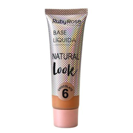 Imagem de Base Líquida Ruby Rose Natural Look Cor Chocolate 06 - 29ml Hb-8051 - Chocolate 6