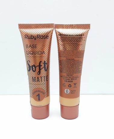 Imagem de Base Liquida Soft Matte RUBY ROSE Chocolate 1