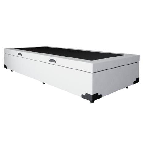 Imagem de Base para Cama Box Solteiro Premium com Baú (45x88x188) Branca