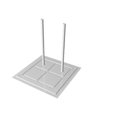 Imagem de Base POP Para Manequim 2 Pinos Branco 0,30 x 0,30m - Cód.  8619