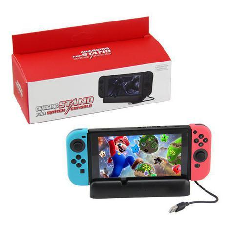 Imagem de Base Suporte Carregador Nintendo Switch Play Stand + Cabo