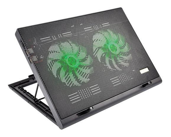 Imagem de Base Suporte Portátil C/ Cooler Para Notebook Mesa Cama Sofa