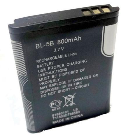 ebd2d9bb53d Bateria Bl-5B Primeira Linha P/ Fone B560 Radinho Mp3 mp7 Kombi Celular  Nokia