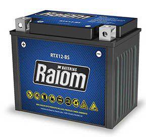 Imagem de Bateria de Moto Raiom Ytx12-bs 10ah 12v Selada (Rtx10-bs)