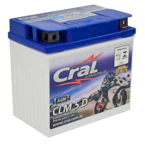 3308cbaf Bateria Moto 5A 12V Selada Cral Polo Positivo Direito - Bateria para ...