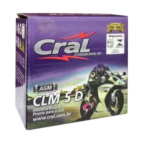 Imagem de Bateria Moto CLM 5D 12V 5A CG125 - Titan150KS - Biz  Honda Suzuki - Selada
